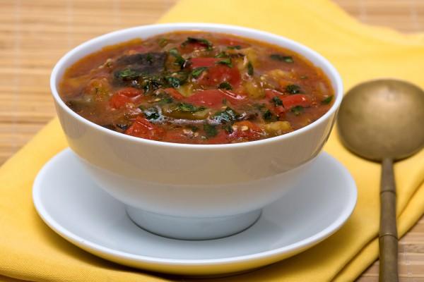 Суп овощной с баклажаном рецепт с фото
